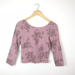 🌷 American Eagle Roses Crop Top Size M